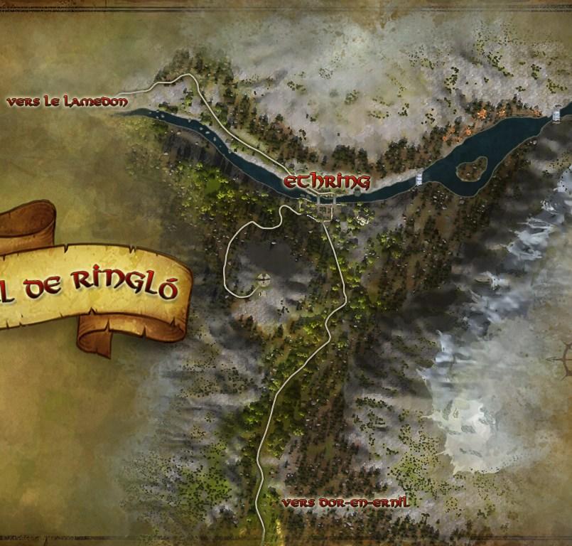 La carte du Val de Ringló
