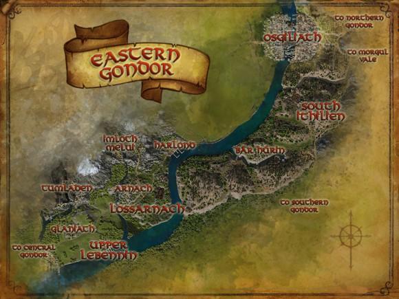 Carte du Gondor Est