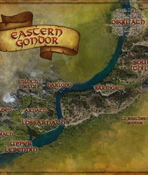 Les cartes du Gondor Est