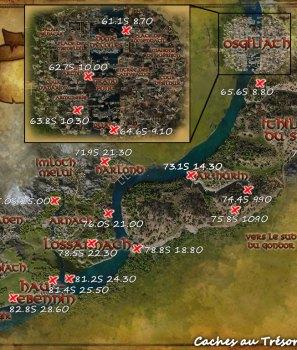 Les caches au trésor du Gondor Est