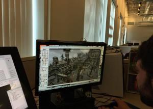 Un développeur travaillant sur Osgiliath PvMP