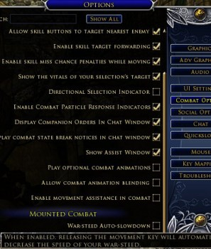 Options utiles du client Lotro