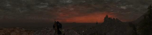 Panorama vers l'est du haut d'un feux d'alarme