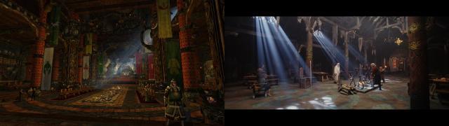 Comparaison Meduseld Film / LOTRO
