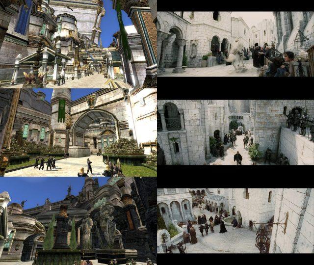 Les rues de Minas Tirith