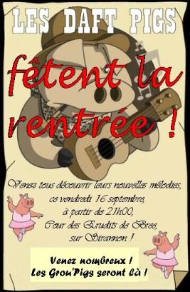 Concert Daft Pigs-16 Septembre