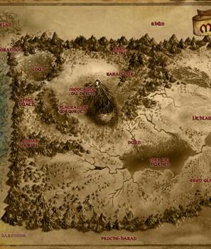 Cartes des caches au trésor du Mordor