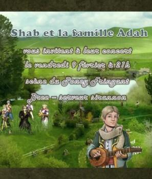 Shab Adah en concert à Bree