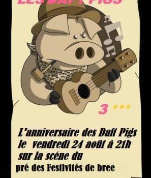 Les Daft Pigs fêtent leur anniversaire