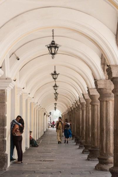 Arcades de la place centrale