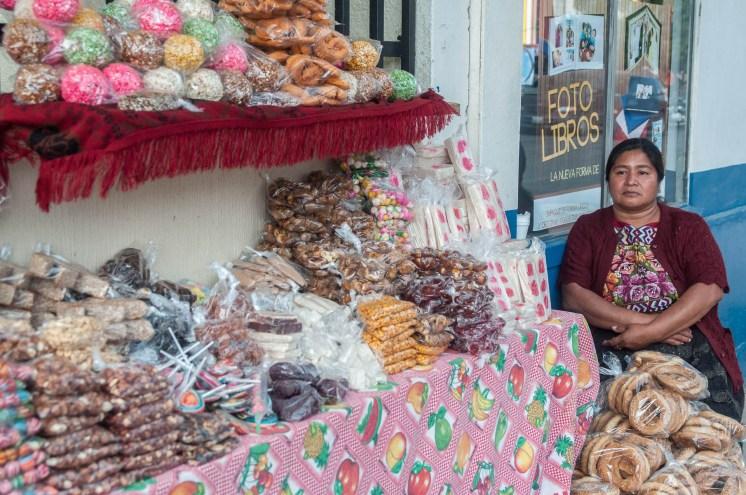 Stand de confiserie, Coban, Guatemala