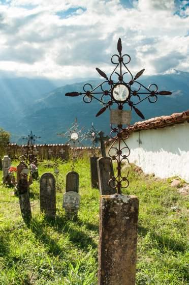 Le cimetière de guane en Colombie