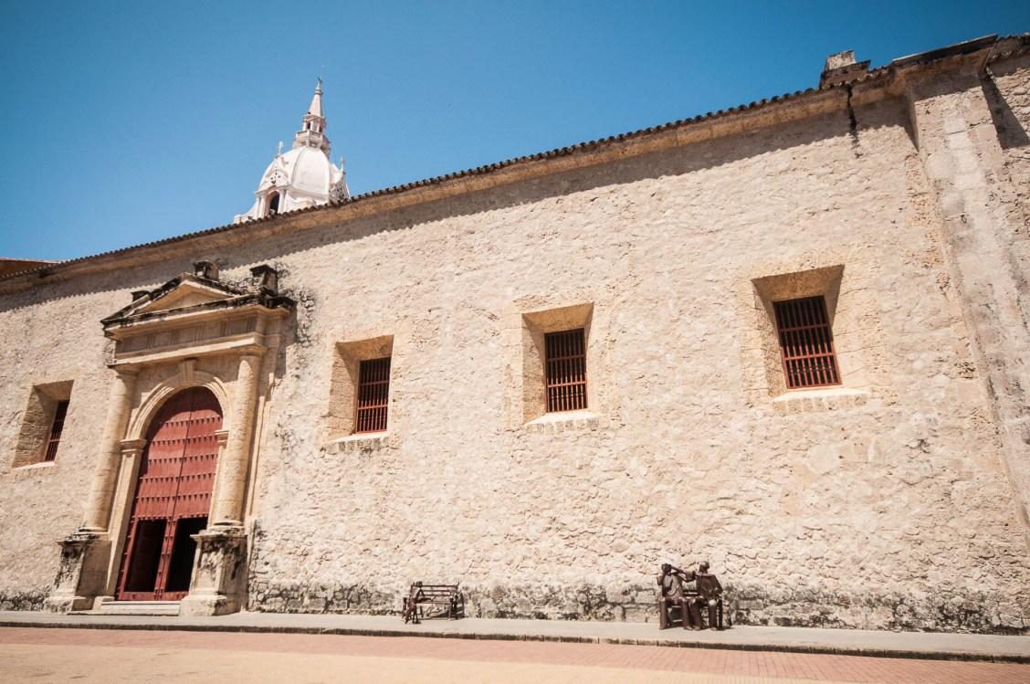 Cathédrale de Carthagènes des Indes en Colombie