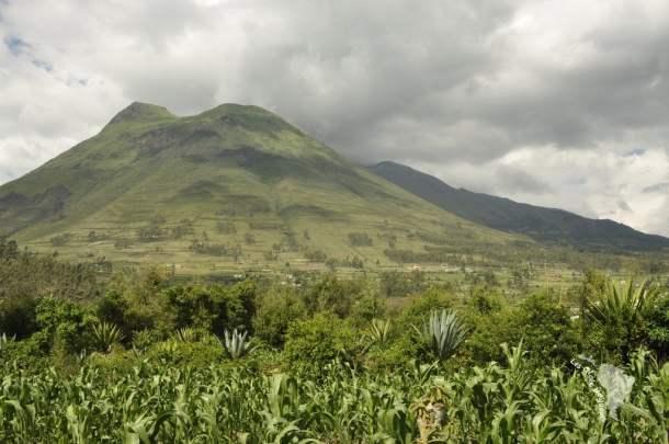 Jolie vue sur le volcan