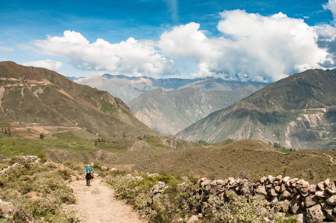 Canyon del colca chemin de randonnée