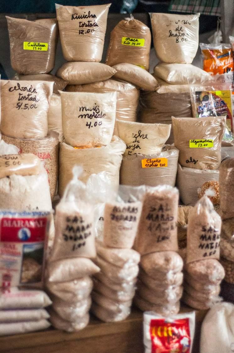 farine marché cusco