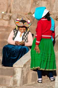 femmes, pérou, chapeaux, folklore
