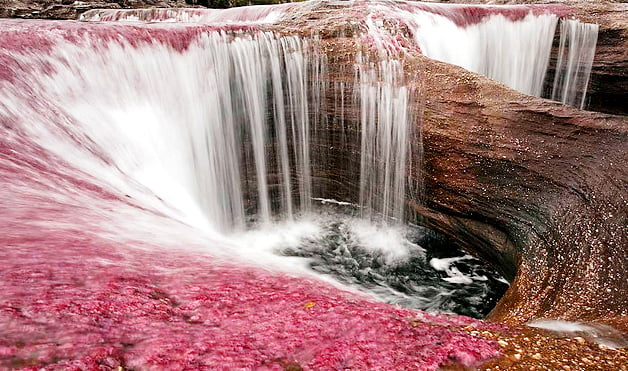 canyon cristales colombie cascade