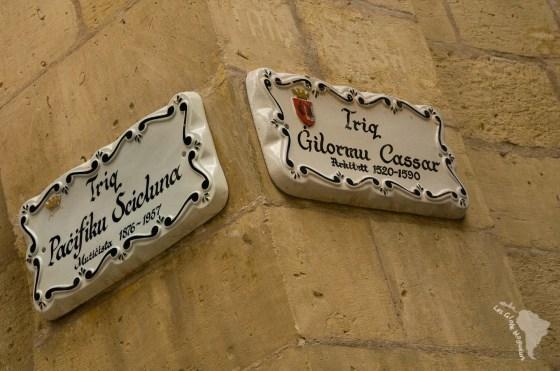 Panneau de rue birgu