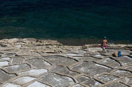 Les salines qui servent de plages aujourd'hui