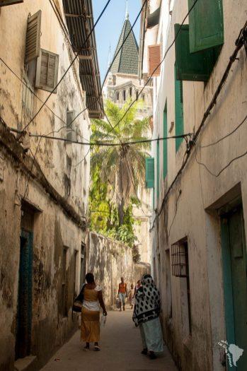 ruelle de stone town à zanzibar
