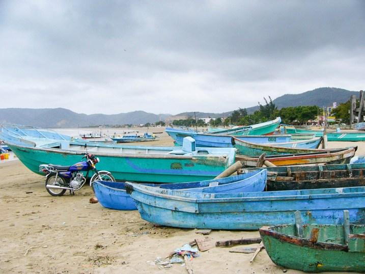 Bateaux de pêcheurs à Puerto Lopez