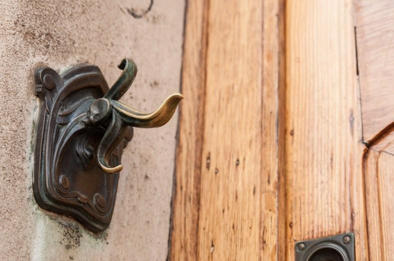 Détail de la porte du musée Horta