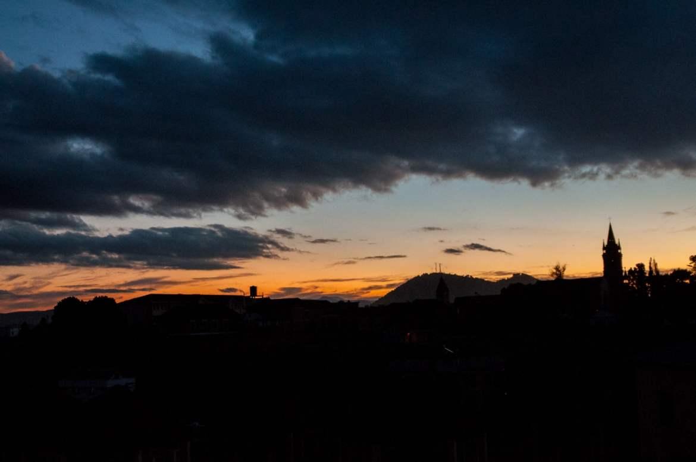 Coucher de soleil sur Antsirabe