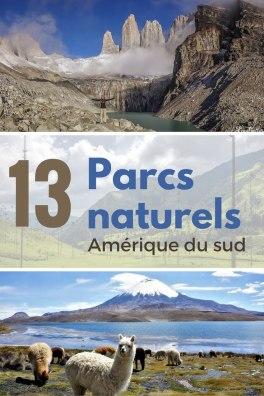 13 superbes parc naturel en Amérique du Sud