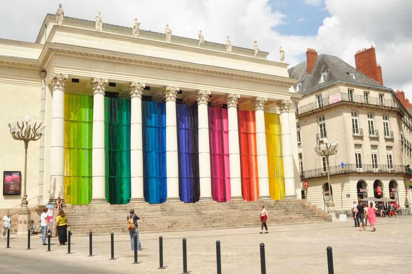 Opéra de Nantes lors d'un happening du Voyage à Nantes