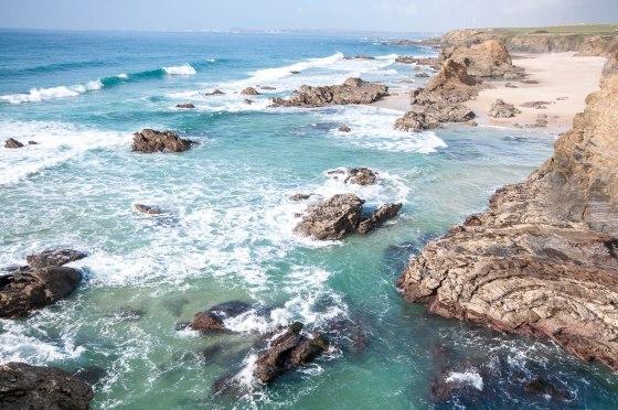 Praia samoqueira vagues