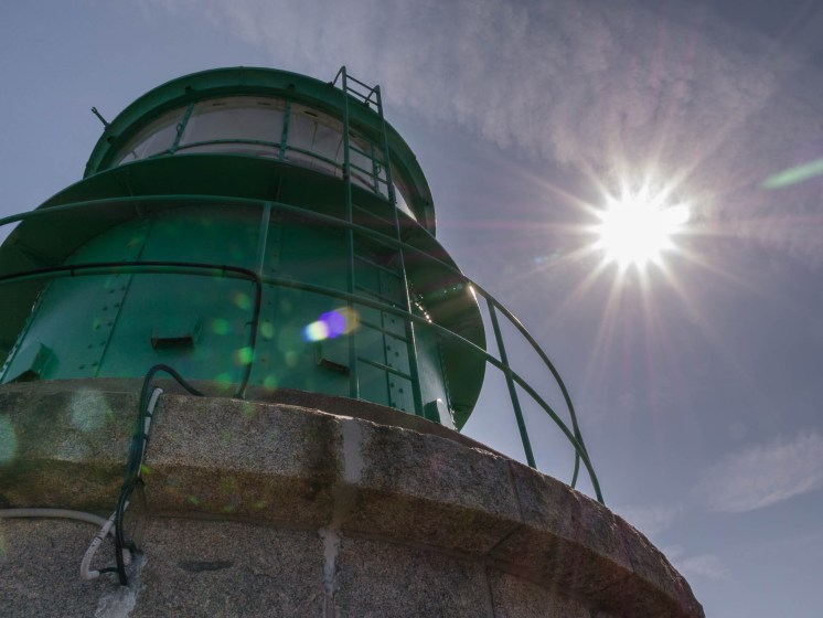 En haut du phare du cap Fréhel