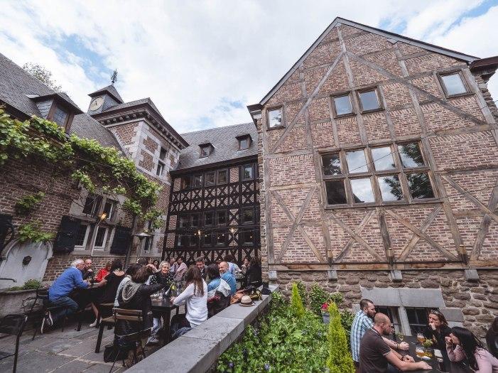 Liège balade coteaux curtius brasserie tablée