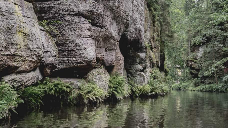 gorge de kamenice parc national de suisse tchèque - république tchèque