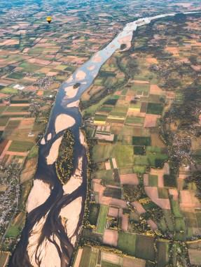 Baptême de montgolfière au dessus de la Loire à Brissac près d'Angers