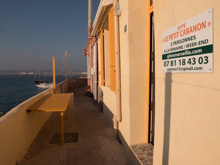 Notre gîte à Marseille avec vue sur la mer, le château de Frioul