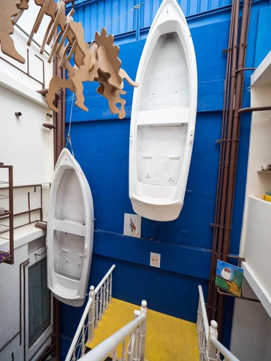 SML 5 boats escalier