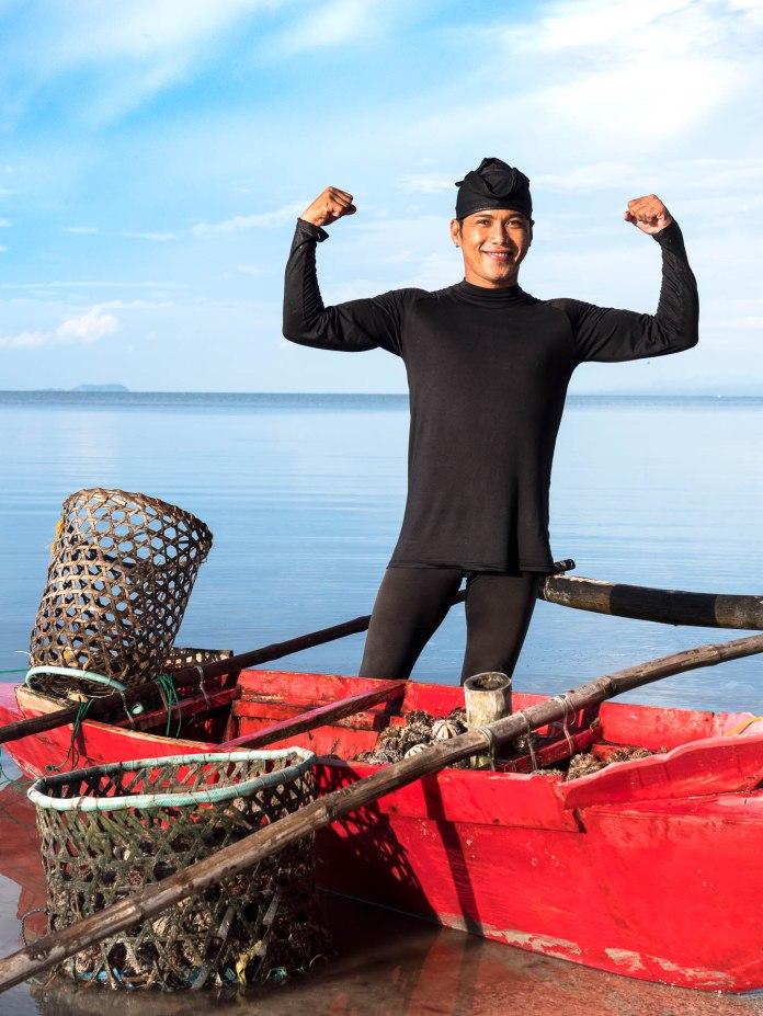 pêcheur d'oursin siquijor