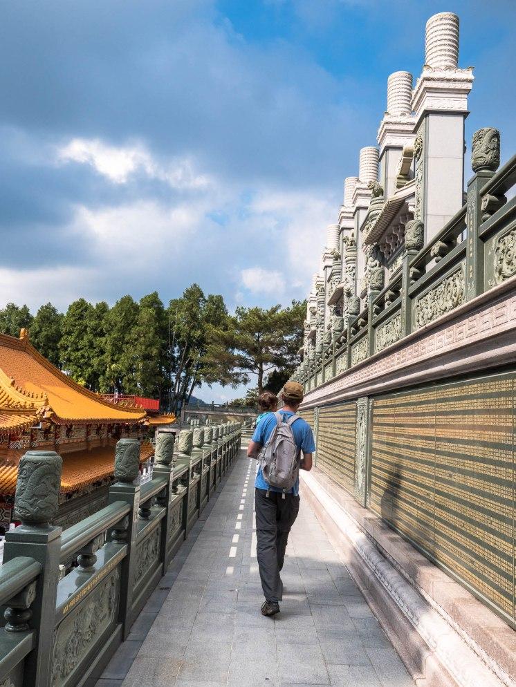 Sun moon lake temple wenwu colonne