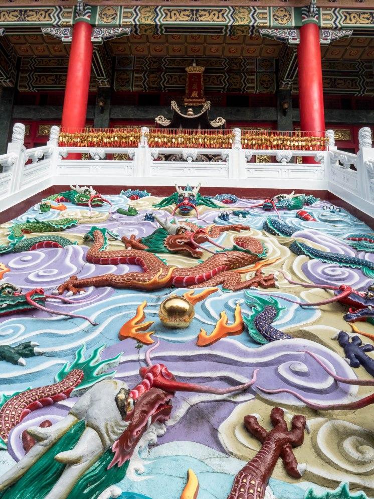 Sun moon lake temple wenwu dragon