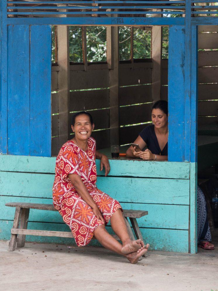 Sur l'île de Samosir à Sumatra en Indonésie