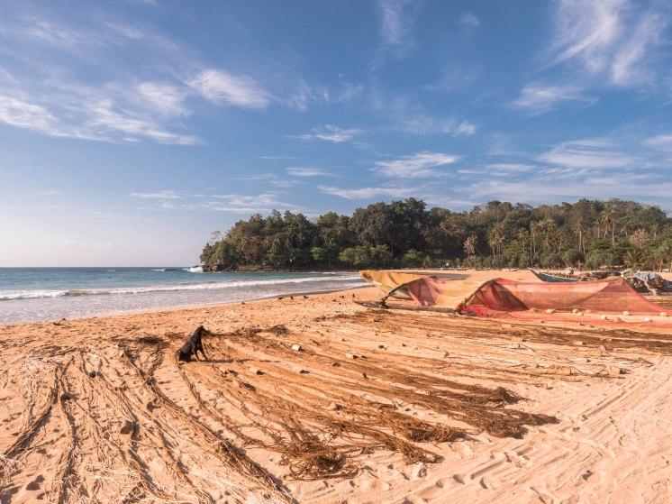 Talalla pêche fin filet plage