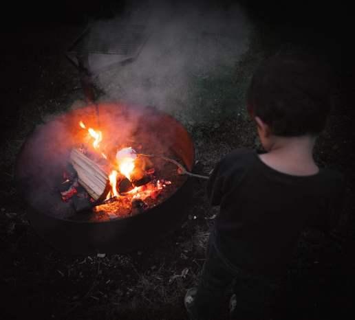 Chamallow au feu de bois