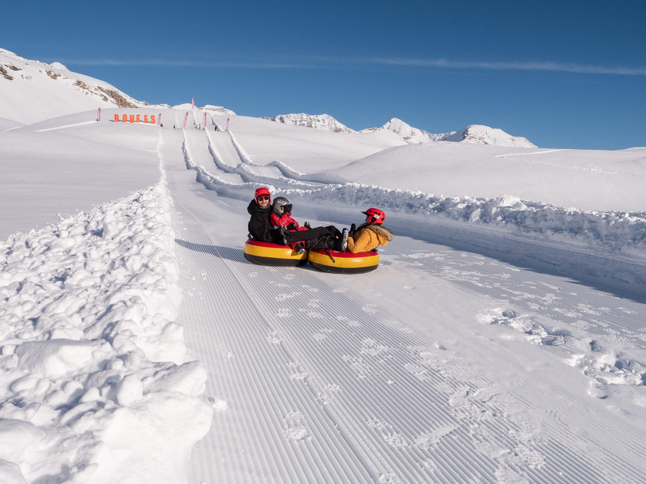 Orcières Merlette 1850 dans les Hautes Alpes - winter park bouées de neige