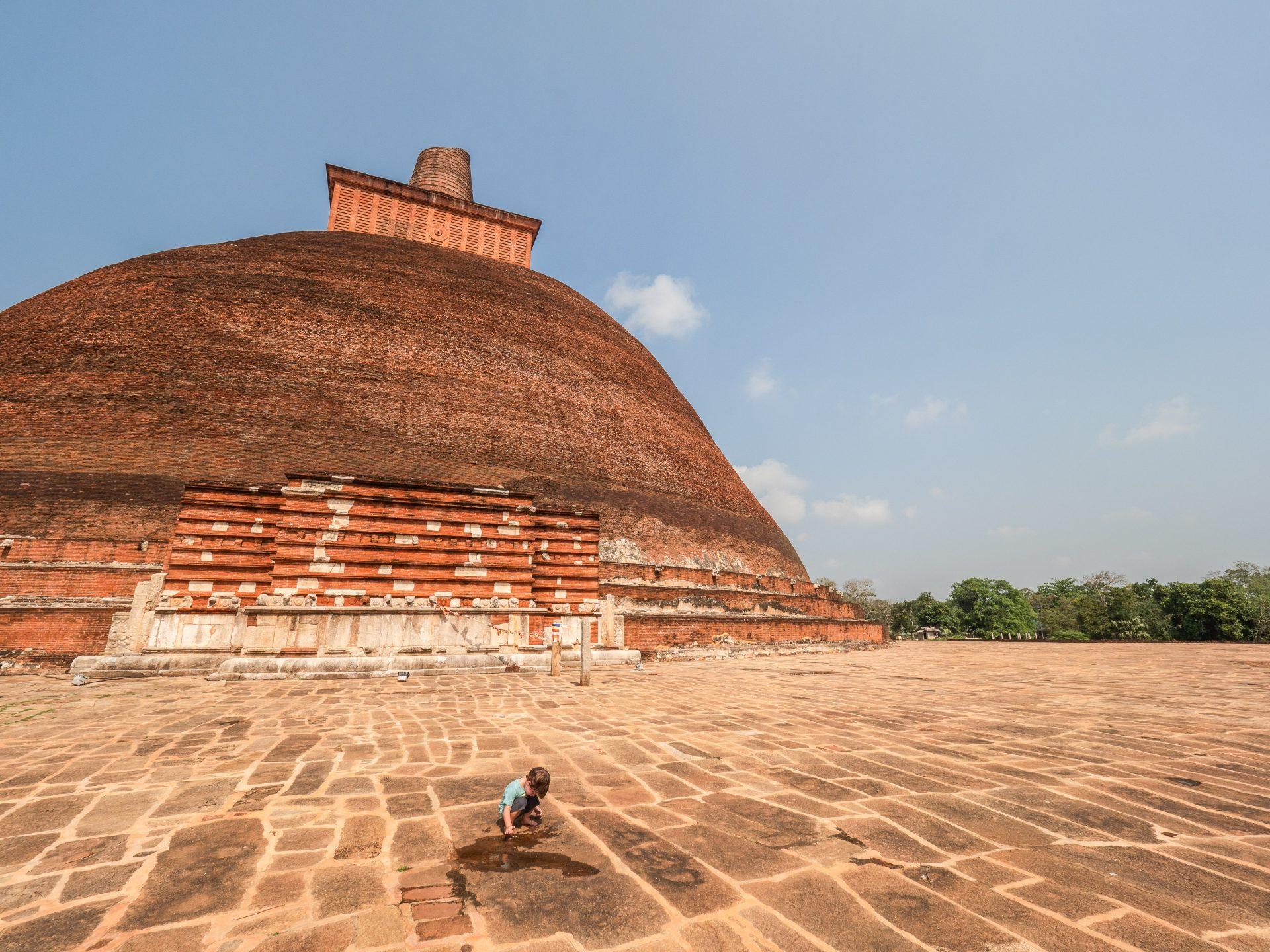 Itinéraire culturel à Anuradhapura au Sri Lanka