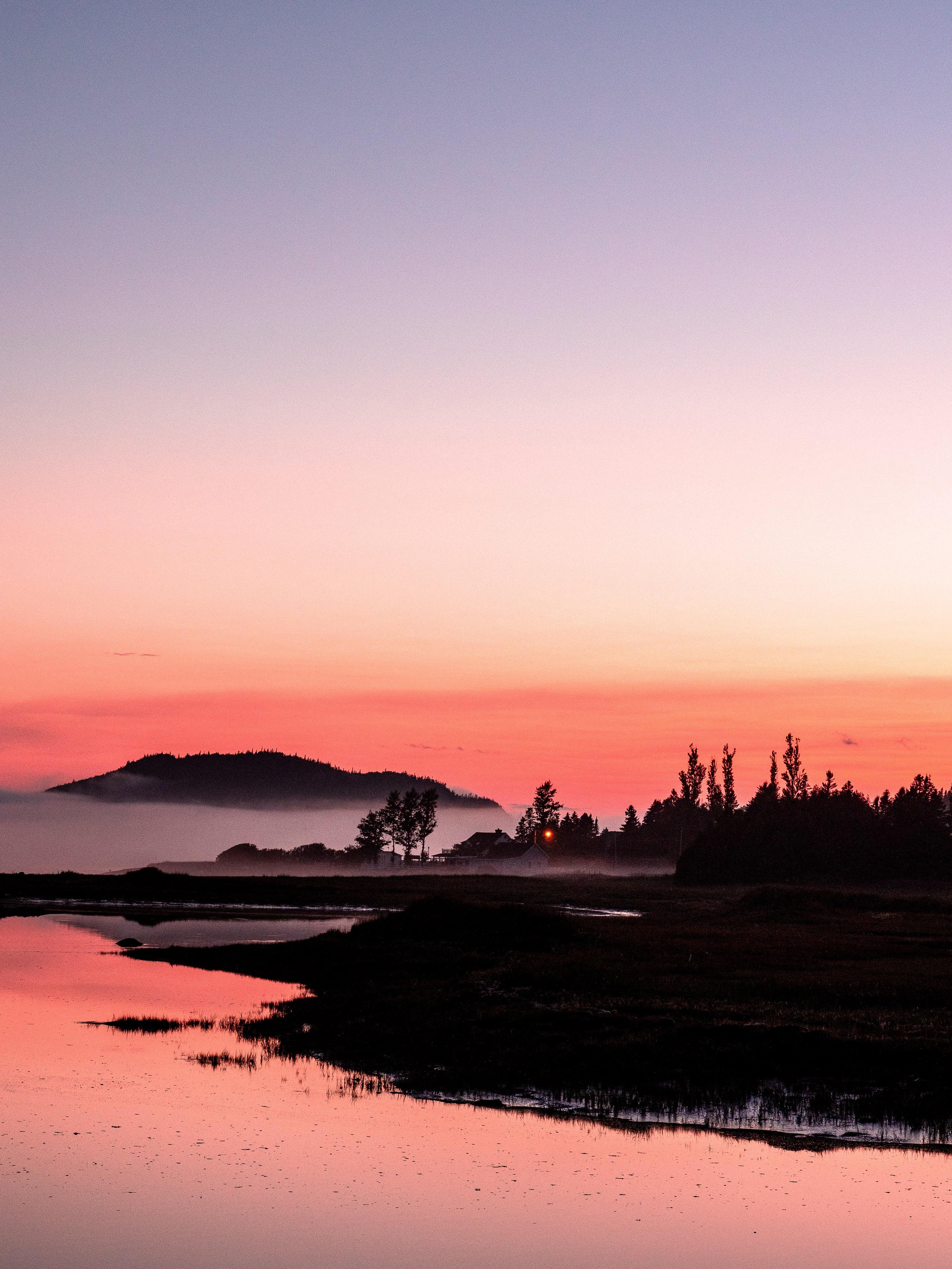 coucher de soleil parc du bic gaspésie
