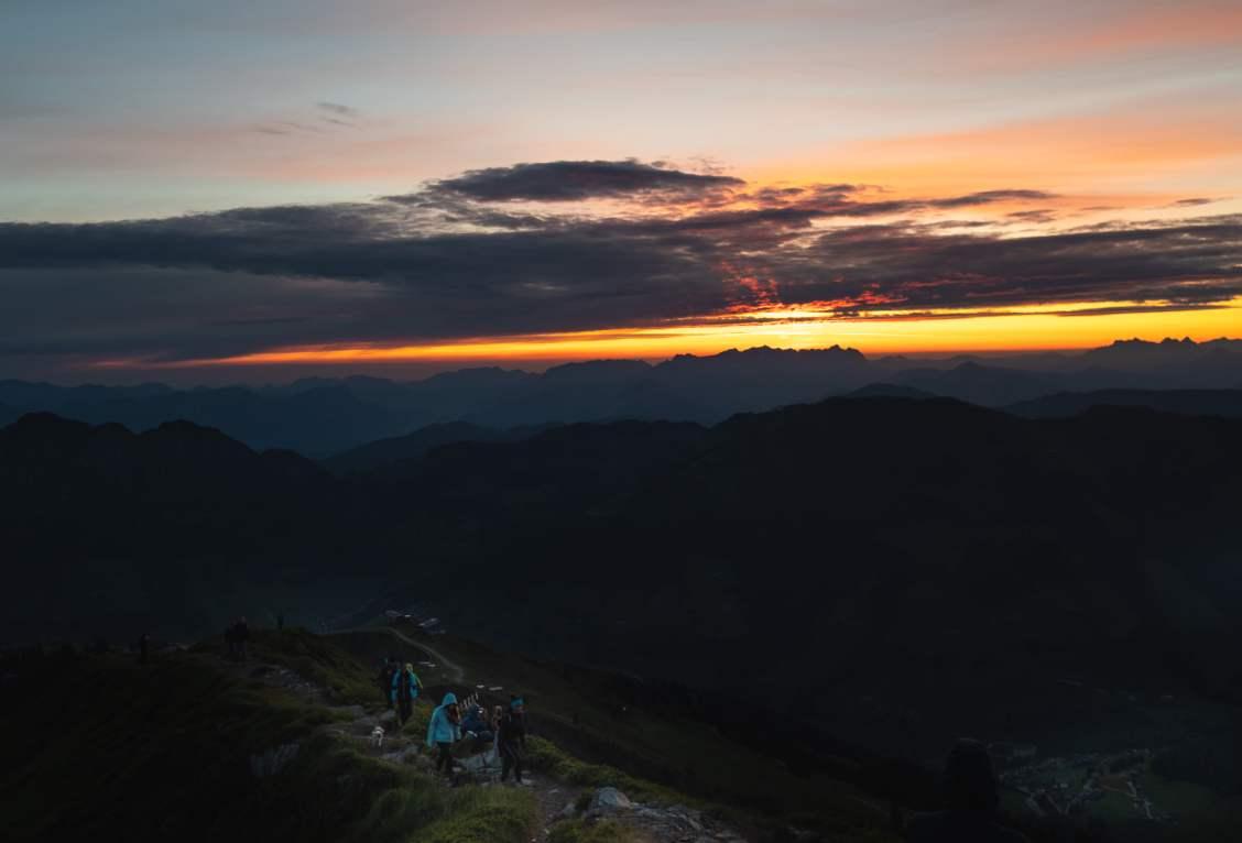 Lever de soleil depuis le Wiedersberger horn