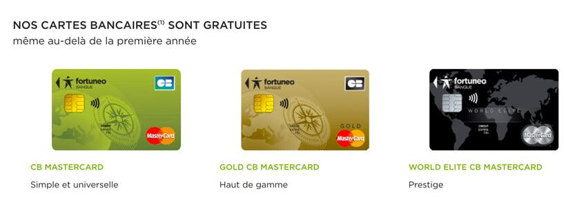 fortuneo carte bancaire gold mastercard world elite