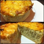 La mini-quiche oignons/moutarde