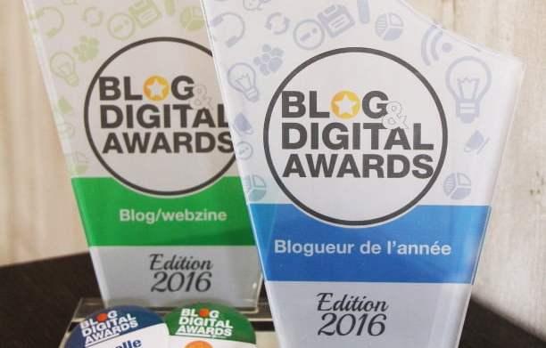 Blogueuse de l'année 2016 et meilleur blog de 2016, deux prix pour ma petite personne!
